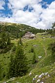 Alta Badia, La Villa, Dolomites, province of Bolzano, South Tyrol, Italy, Europe. The mountain refuge Gardenacia