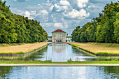 Munich, Bavaria, Germany. The Central Canal in the landscape gardens of the Nymphenburg Palace