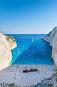 Shipwreck on Navagio Bay,North Zakynthos,Ionian Islands,Greece