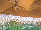 Aerial view, Vignola mare beach in Sassari province, Sardinia, Italy, Europe.