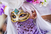 Typical mask of Carnival of Venice, Venice, Veneto, Italy