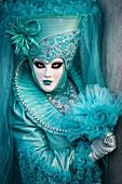 Typical mask of Carnival of Venice, Venice, Veneto, Italy