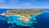 Pink Beach on Budelli Island, Maddalena Archipelago, Olbia-Tempio, Sardinia, Italy