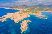 Punta Canneddi and Marinedda Beach, Trinità d'Agultu e Vignola, Olbia-Tempio, Sardinia, Italy