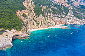 Cala Mariolu Beach in the Orosei Gulf lies between Dorgali and Baunei, Nuoro, Sardinia, Italy