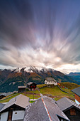 Dramatic sky at sunset, Bettmeralp, canton of Valais, Switzerland