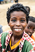Smiling kids, Melabday, Asso Bhole, Danakil Depression, Afar Region, Ethiopia, Africa