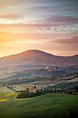 An historic farmhouse between Pienza hills. Pienza, Val d'Orcia, Tuscany, Italy