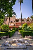 Real Alcazar gardens. Seville, Andalucia, Spain