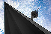 Fernsehturm from Alexanderplatz, Mitte, Berlin, GErmany