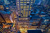 High view of Manhattan, New York, USA