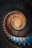 Cap Ferret Lighthouse's staircase, Cap Ferret, Bassin d'Arcachon, Gironde, France