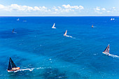 Antigua Lesser Antilles islands in the Caribbean West Indies - Ocean going yachts taking part in Antigua Sailing Week races