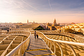 View of Metropol Parasol, Seville, province of Seville, Andalusia, Spain