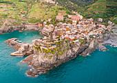 Aerial view of Vernazza, Cinque Terre, Liguria, Italy