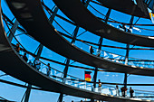 Reichstag dome is a glass dome constructed on top of the rebuilt Reichstag building in Berlin, Germany, Europe, West Europe