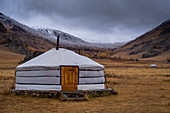 A mongolian ger in campsite, Terkhiin Tsagaan Nuur National Park, Mongolia, Mongolian, Asia, Asian
