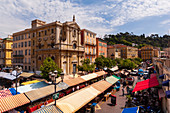 Cours Saleya, Nice, French Riviera, France.