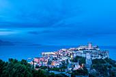 Gaeta medieval city at dusk, Europe, Italy, Lazio, Latina province, Gaeta