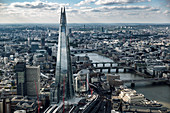The Shard and London Skyline, London, England, UK