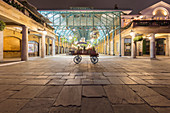 Evening view across an empty Covent Garden, London, UK during the Corona virus crisis.