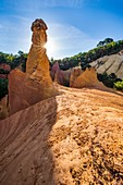 France, Vaucluse, regional natural reserve of Luberon, Rustrel, Provençal Colorado, former careers of ochre, fairy's fireplace