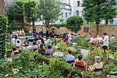 France, Paris, Fete de la Musique, Saint-Germain-des-Pres district, classical concert in the gardens of the Eugene Delacroix museum