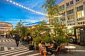 France, Paris, Ground Control Paris, the famous bar ephemeral free and curious edition 2017 opened its doors on 18/05/2017 in a former warehouse SCNF, 81 rue du Charolais 75012