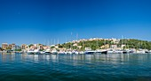 France, Corse-du Sud (2A), Porto-Vecchio, the marina at the foot of the Genoese citadel