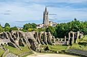 France, Charente Maritime, Saintonge, Saintes, the roman Amphitheatre built around 40 AD with a capacity of 12 000 à 18 000 places