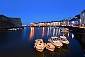 France, Morbihan, Belle Ile en Mer, Le Palais, the inner harbour and Vauban citadel