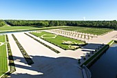 France, Loir et Cher, Loire valley listed as World Heritage by UNESCO, Chambord, the royal castle, the Jardins a la Francaise (French gardens)