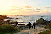 France, Finistere, Brignogan Plages, the coastline of Kerlouan and the coast of the Legends in the heart of Country Pagan