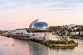 France, Hauts de Seine, Boulogne-Billancourt, Seguin Island, the Seine Musicale, a multi-purpose concert hall designed by the architects Shigeru Ban and its partner Jean de Gastines, inaugurated on 21 April 2017