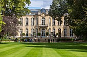 France, Paris, Heritage Days 2017, Hotel de Matignon and Prime Minister's Office, the 3 hectare park, the largest private green space in Paris