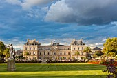 France, Paris, Luxembourg garden, the Palais du Luxembourg and seat of the Senate since 1799