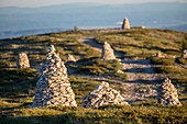 France, Alpes de Haute Provence, Saint Etienne les Orgues, Seen on the South and on the cairns of dry stone since the summit of the Mountain of Lure