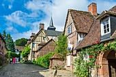 France, Oise, Gerberoy, village of Picard Pays de Bray labeled Most Beautiful Villages of France, Henri Le Sidaner street