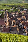 France, Haut Rhin, Route des Vins d'Alsace, Riquewihr labelled Les Plus Beaux Villages de France (One of the Most Beautiful Villages of France)