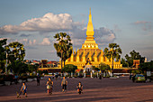 Pha Tat Luang, Stupa, Temple, Buddhism, Religion, Architecture, Culture, Landmark, Laos, Southeast Asia; Asia; Vientiane;