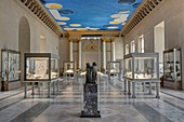 France, Paris, area listed as World Heritage by UNESCO, Louvre museum, ancient bronzes room, ceiling of 400 m2 by the american artist Cy Twombly the Ceiling painted between 2007 and 2009