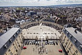 France, Côte d'Or, Dijon, Liberation Square viewed from the tower Philippe le Bon of the Palace of the Dukes of Burgundy