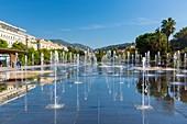 France, Alpes Maritimes, Nice, Old Town, coulee verte ou promenade du Paillon