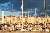 France, Charente Maritime, La Rochelle, floating basin of the Old Port