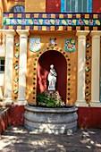 France, Alpes Maritimes, Menton, Garavan district, Fontana Rosa Garden (Vicente Blasco Ibanez 20th) Historic Monument