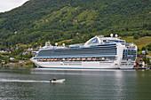 Cruise ship Emerald Princess - Hamilton near Olden on the Innvikfjorden, Stryn municipality, Sogn og Fjordane, Norway, Europe