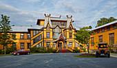 The historic Hotel Dalen on Bandak Lake in Dalen, Telemark, Norway, Europe