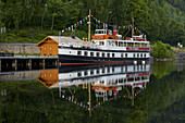 Dalen, the historic ship Victoria at the terminus of the Telemark Canal, Telemark, Norway, Europe