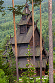 Replica of Gol Stave Church (1994), Gol, Buskerud, Hallingdal, Norway, Europe