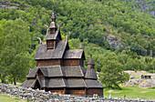 Stabkirche Borgund, Gemeinde Laerdal, Sogn og Fjordane, Norwegen, Europa